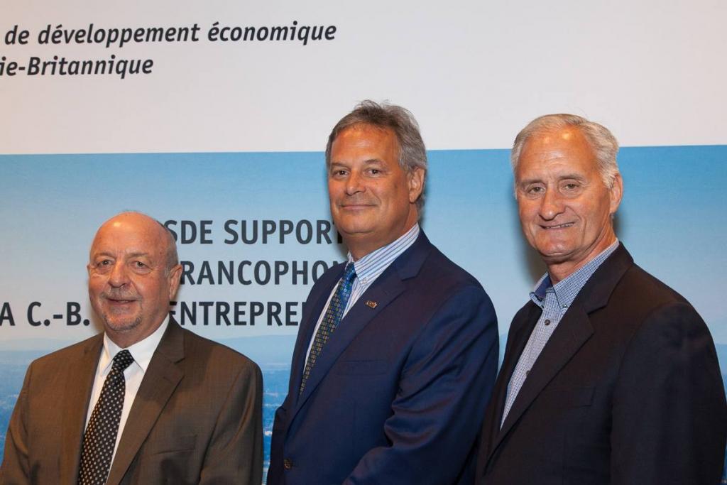 Membres sortants du CA de la SDECB: M. Richard Soumis, M. Michel Matifat et M. Robert Prud'homme et M. Richard Soumis