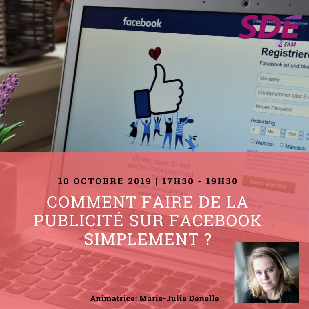 Atelier publicité facebook