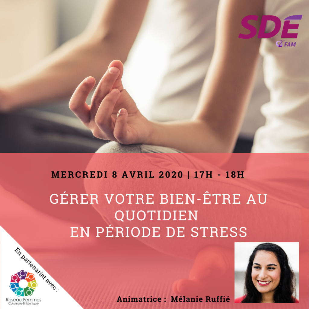Gérer votre bien-être au quotidien en période de stress