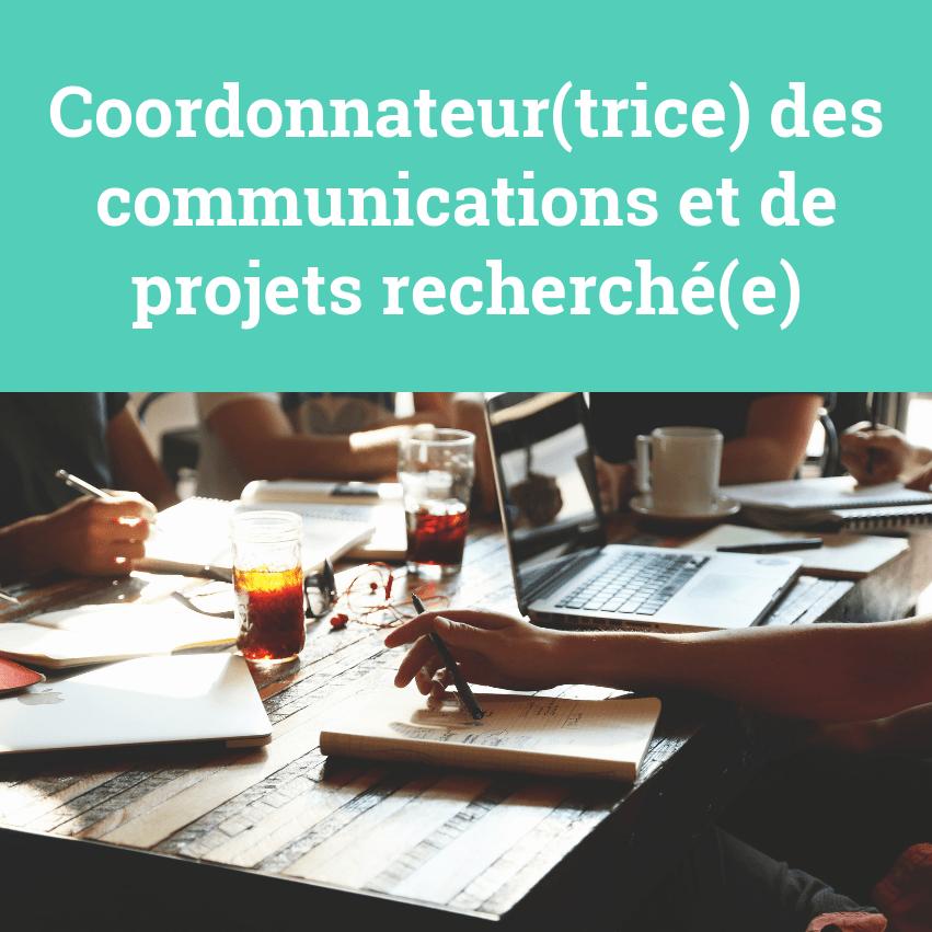 La SDECB recrute : Coordonnateur des communications et de projets