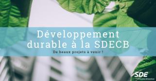 Développement durable à la SDECB
