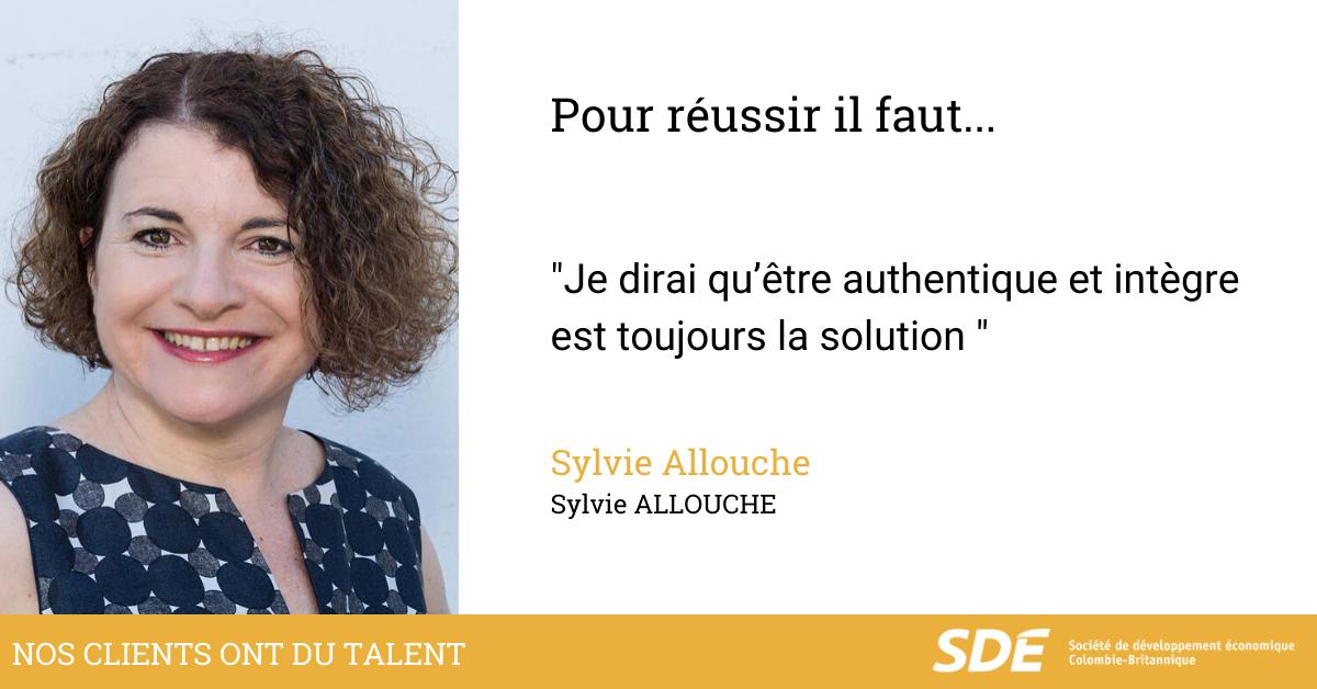 Nos clients ont du talents - Sylvie Allouche