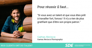 Nos clients ont du talent Gaëtan