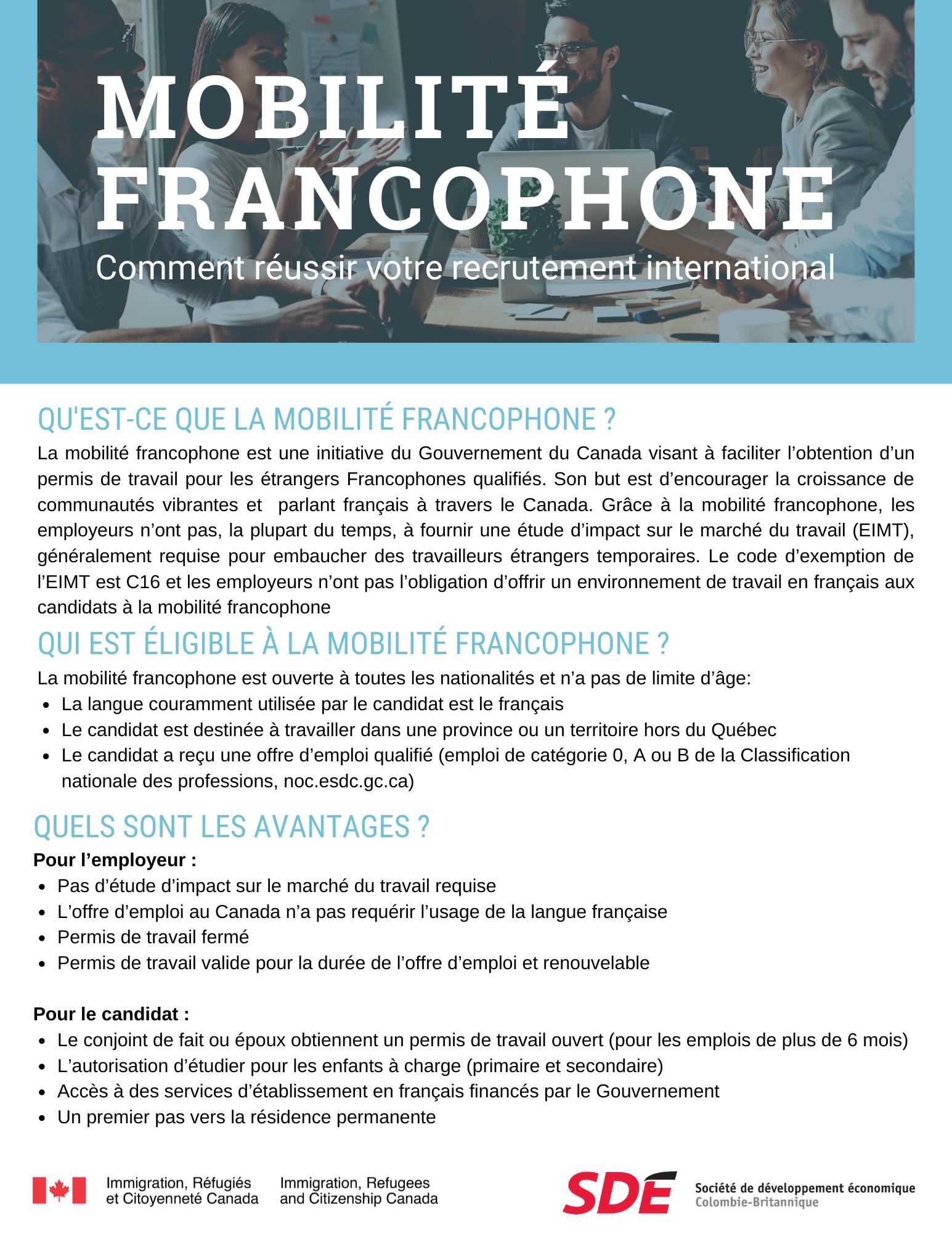 Mobilité francophone guide employeur